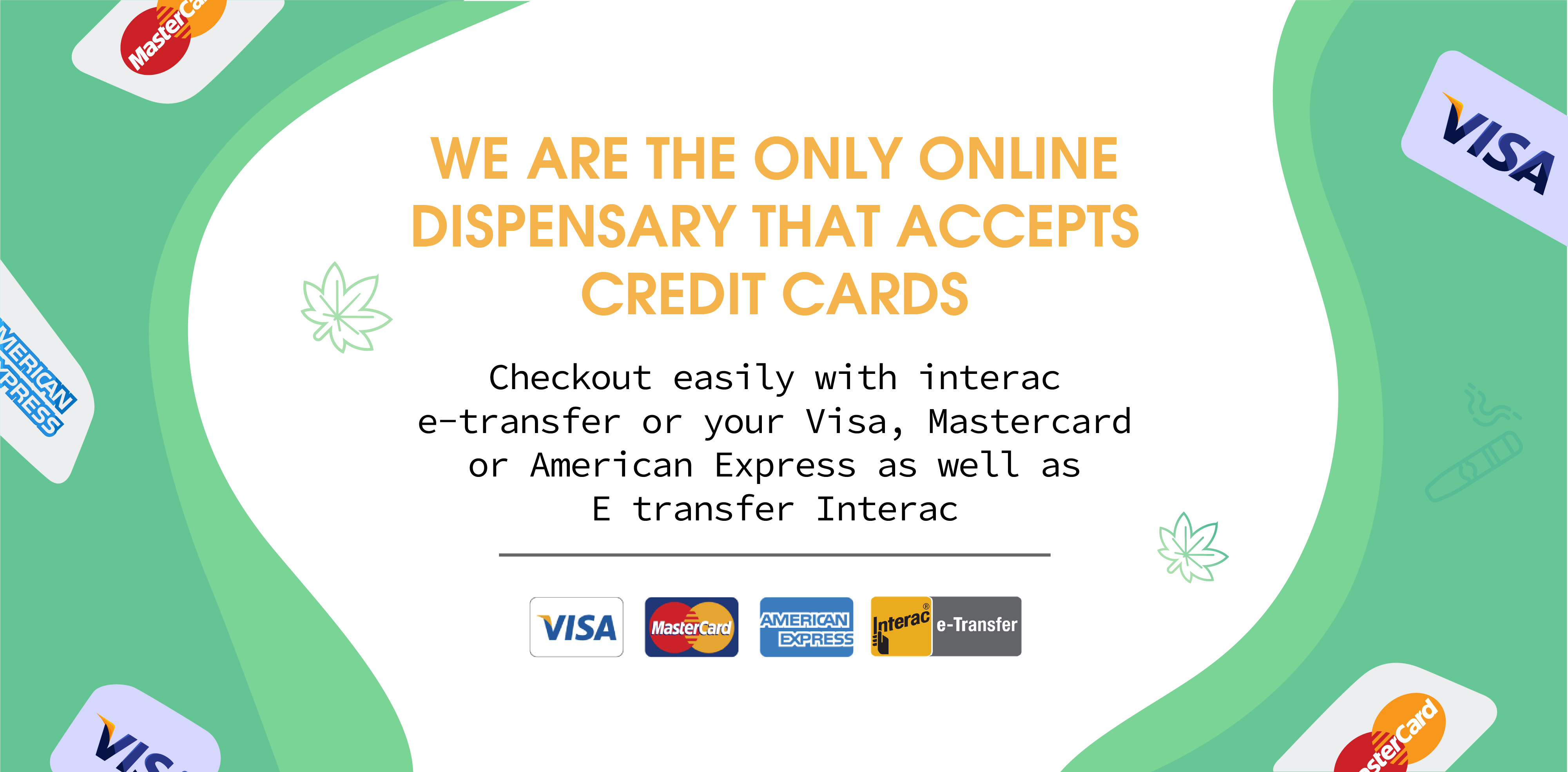 Happy Tree Buds Accepts Credit Cards